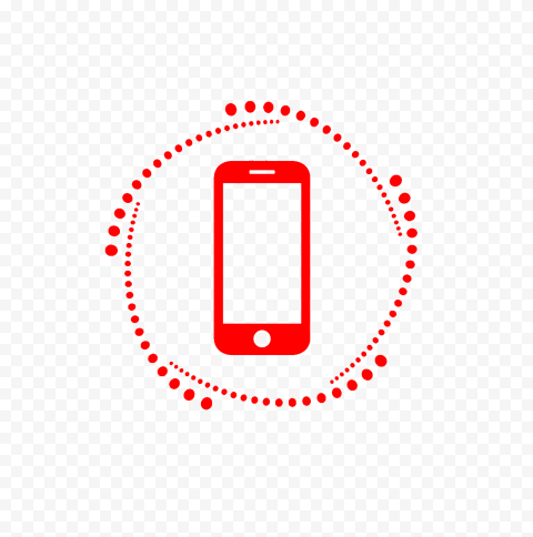 HD Red Phone Outline Logo Transparent PNG