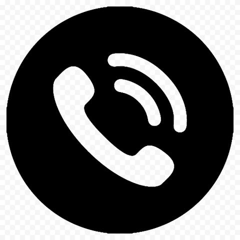 HD Black Round Circle Phone Icon Transparent PNG