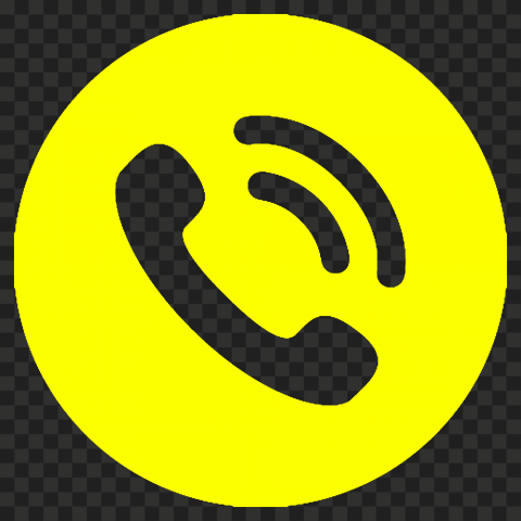 HD Yellow Round Circle Phone Icon Transparent PNG