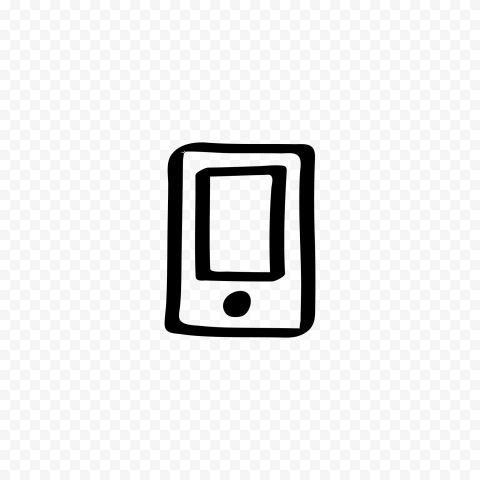 HD Black Hand Draw Mobile Icon Transparent PNG