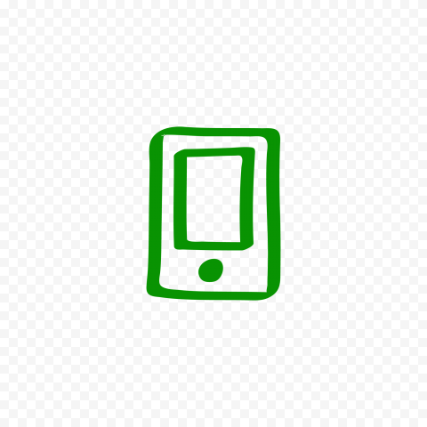 HD Green Hand Draw Mobile Icon Transparent PNG