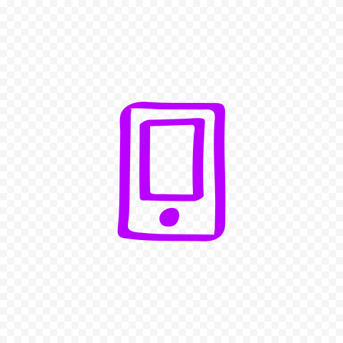 HD Purple Hand Draw Mobile Icon Transparent PNG