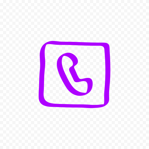 HD Purple Hand Draw Square Phone Icon Transparent PNG