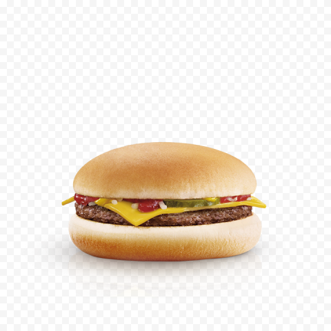 Real Mcdonald's Cheeseburger Beef PNG Image