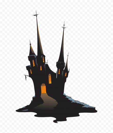 HD Cartoon Clipart Halloween Castle House PNG
