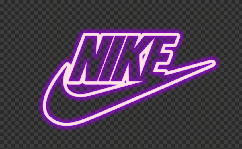 HD Nike Neon Pink & Purple Outline Text Tick Logo PNG ...