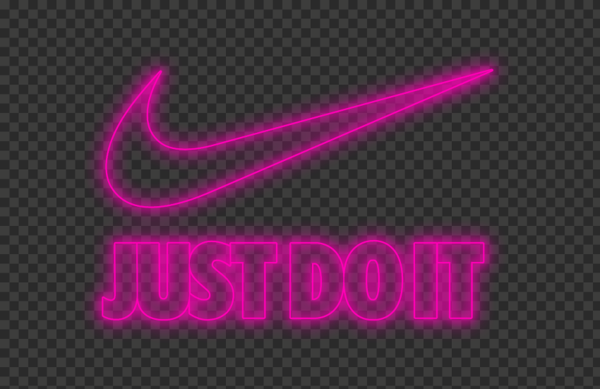 gemelo Fascinar roble  HD Nike Just Do It Neon Pink With Tick Logo PNG   Citypng