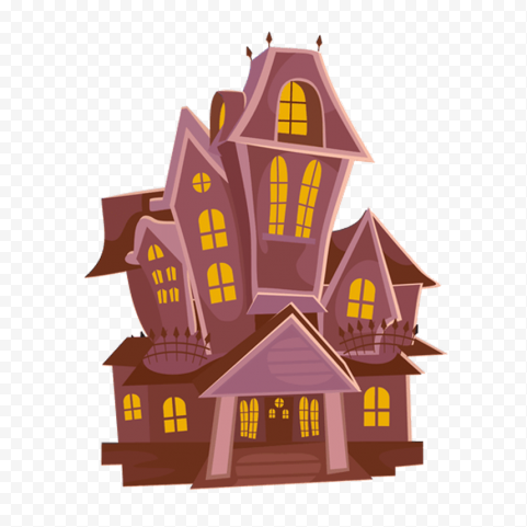 Halloween Cartoon Clipart House Vector Illustration PNG