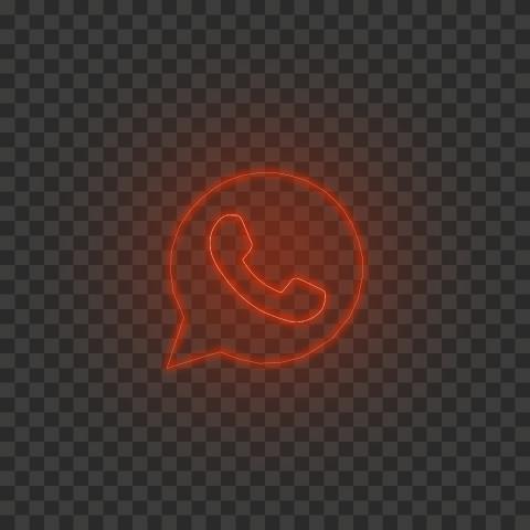 HD Red Neon Light Whatsapp Art Line Logo Icon PNG