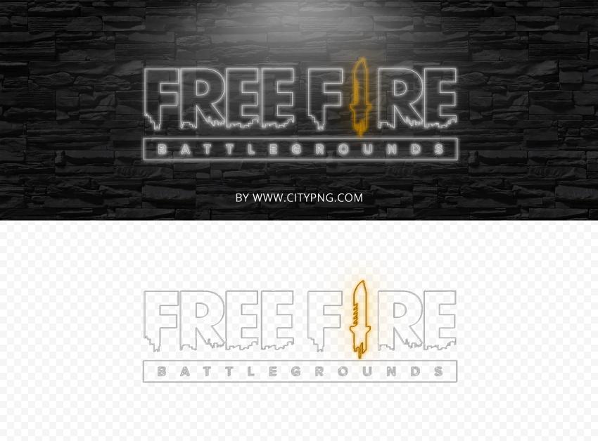 HD Neon Free Fire Logo Battlegrounds PNG