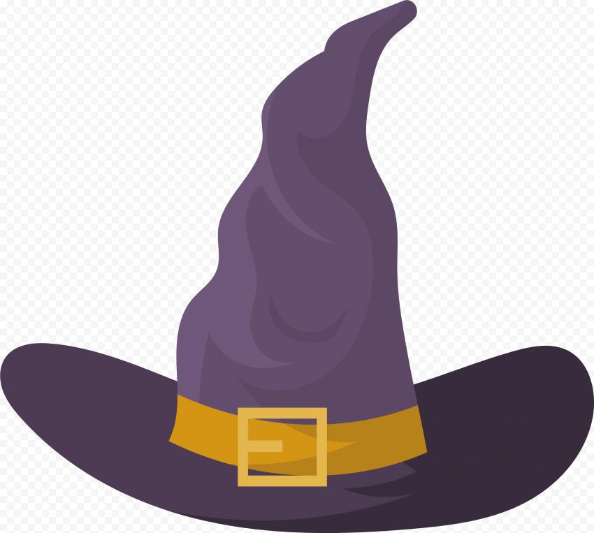 HD Halloween Witch Hat Flat Purple Clipart Cartoon PNG