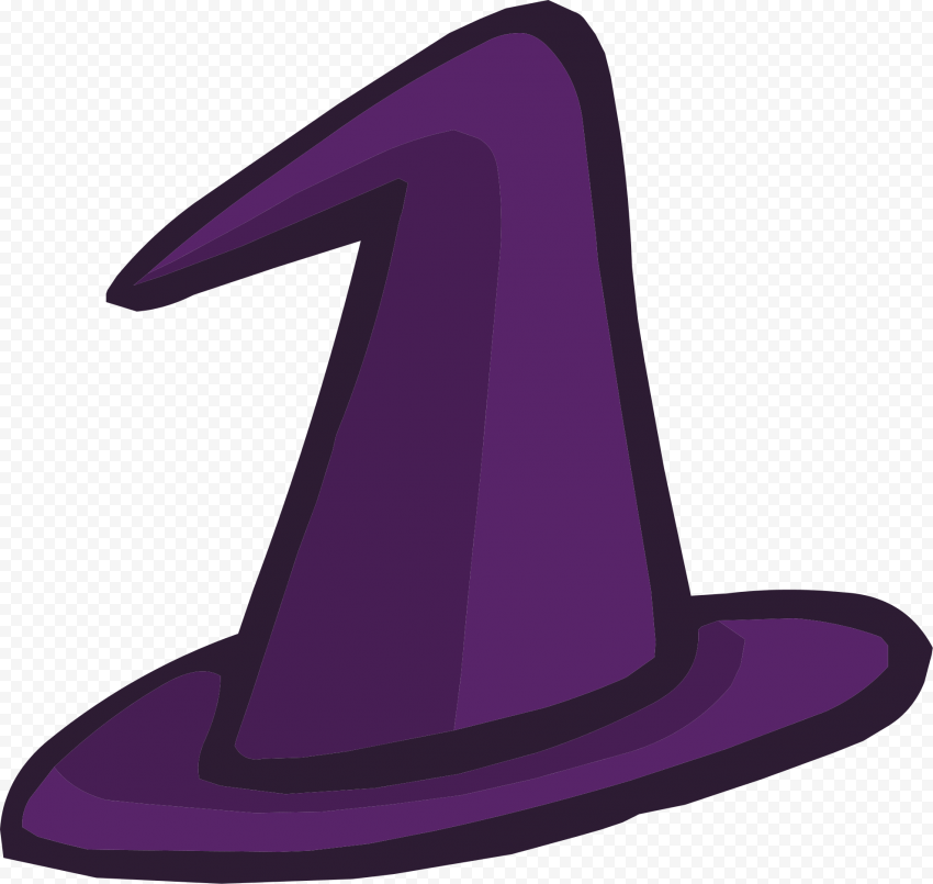 HD Halloween Witch Hat Purple Clipart Cartoon Vector PNG