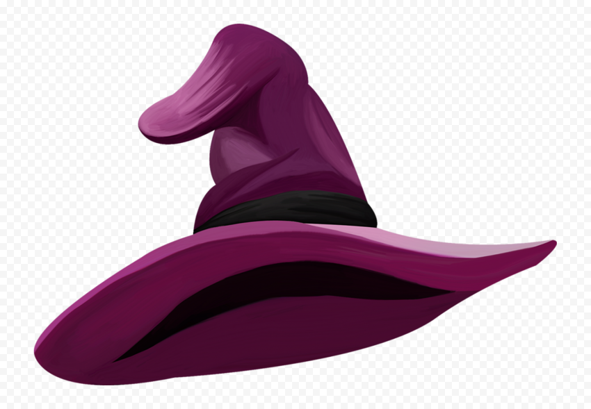 HD Halloween Witch Hat Purple Clipart Cartoon Illustration PNG