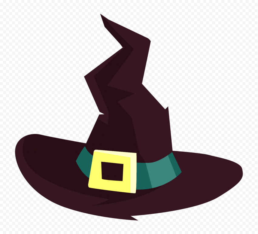 HD Halloween Witch Hat Cartoon Clipart PNG