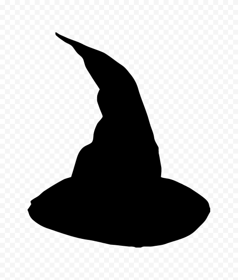 HD Black Witch Hat Silhouette Halloween PNG