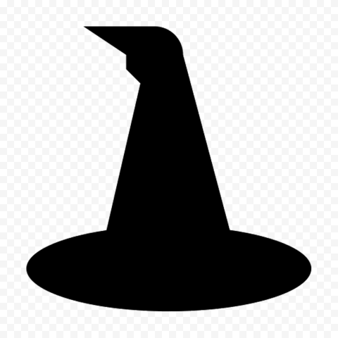 HD Black Vector Witch Hat Silhouette Halloween PNG
