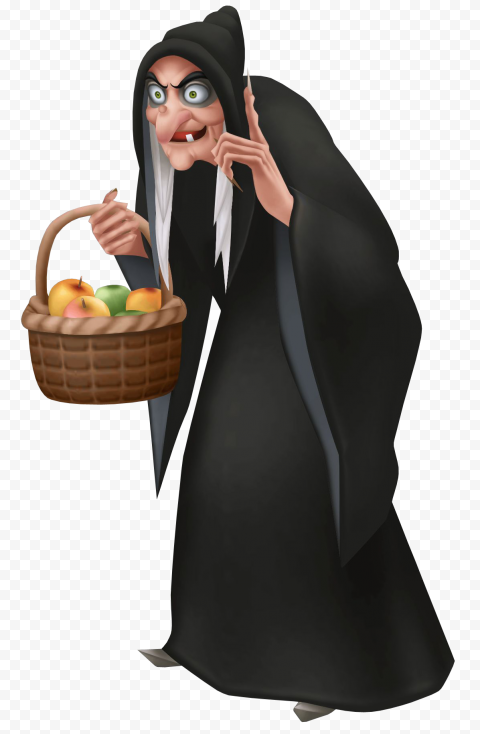 HD Halloween Scary Old Witch Wear Black Clothes Cartoon PNG