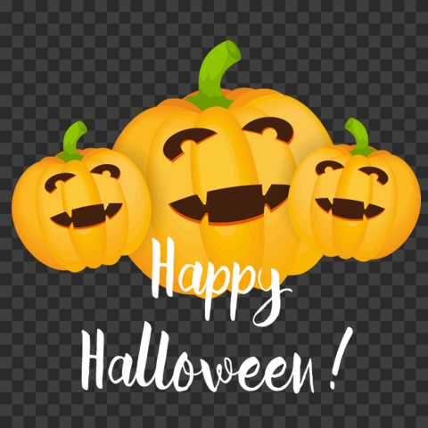 HD Three Cartoon Happy Pumpkins Happy Halloween PNG
