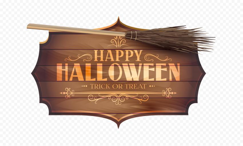 HD Happy Halloween Trick Or Treat Logo Creative Design PNG