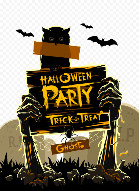 HD Halloween Party Trick Or Treat Beautiful Design Background PNG