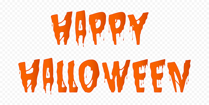 HD Orange Happy Halloween Words Letters Text PNG