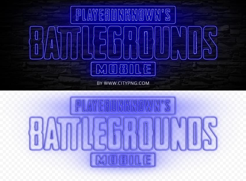 HD Player Unknown Battlegrounds Blue Light Neon Logo PNG