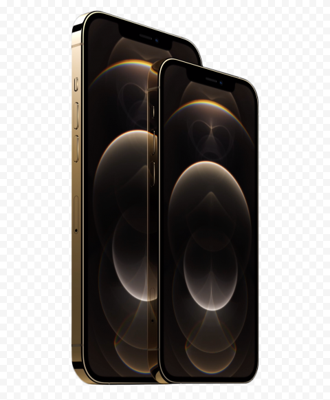 HD Gold Apple iPhone 12 Pro & Pro Max PNG