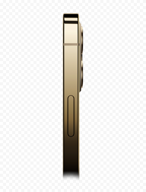 HD Gold Apple iPhone 12 Pro Side View PNG