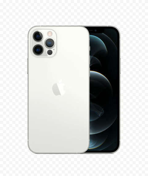 HD Apple Silver iPhone 12 Pro & Pro Max PNG