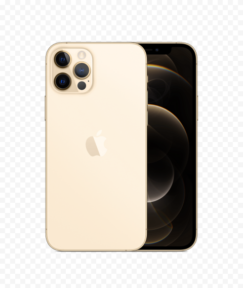 HD Apple Gold iPhone 12 Pro & Pro Max PNG
