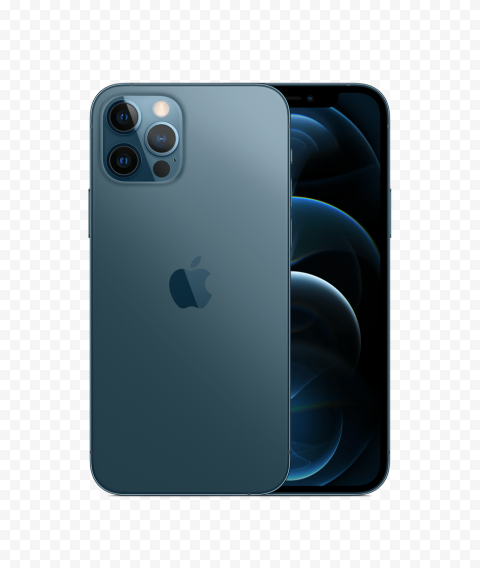 HD Apple Blue iPhone 12 Pro & Pro Max PNG