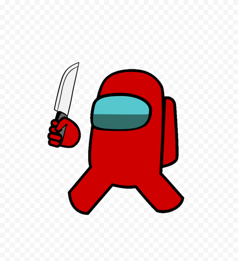 Hd Red Among Us Crewmate Character With Holding Knife Png Citypng Purple man lying on the floor. hd red among us crewmate character with