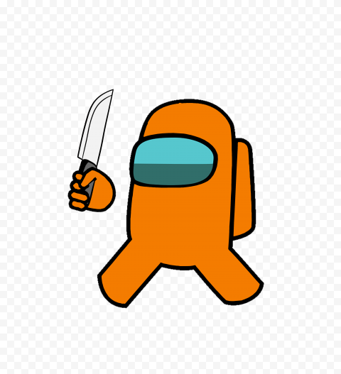 Hd Orange Among Us Crewmate Character With Holding Knife Png Citypng An among us (among us) skin mod in the animation category, submitted by cyndaquildac. hd orange among us crewmate character