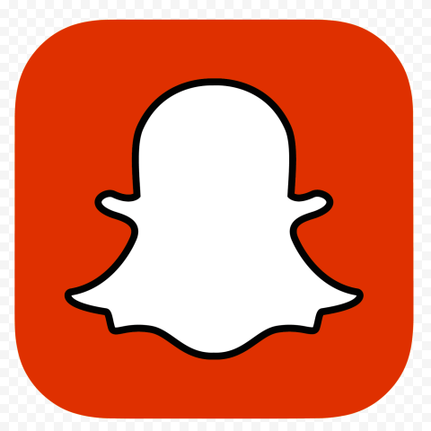 HD Red Snapchat Square App Logo Icon PNG Image