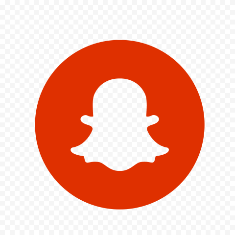 HD Circle Round Red Snapchat Logo Icon PNG Image