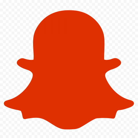 HD Red Snapchat Ghost Silhouette Logo Icon PNG Image