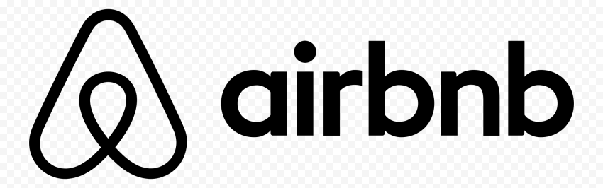 HD Black Airbnb Official Logo Brand PNG Image