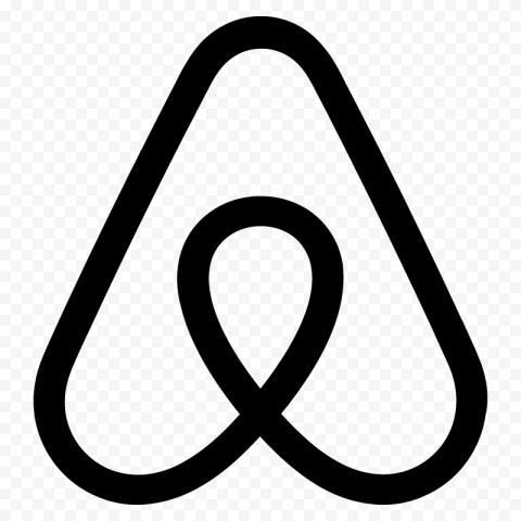 HD Black Airbnb Symbol Logo Sign Icon PNG Image