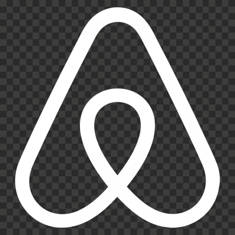 HD White Airbnb Symbol Logo Sign Icon PNG Image