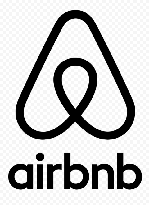 HD Black Airbnb Logo With Symbol Sign Icon PNG Image