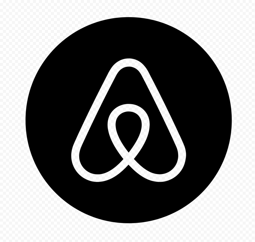 HD Black Airbnb Round Circle Logo Icon PNG Image