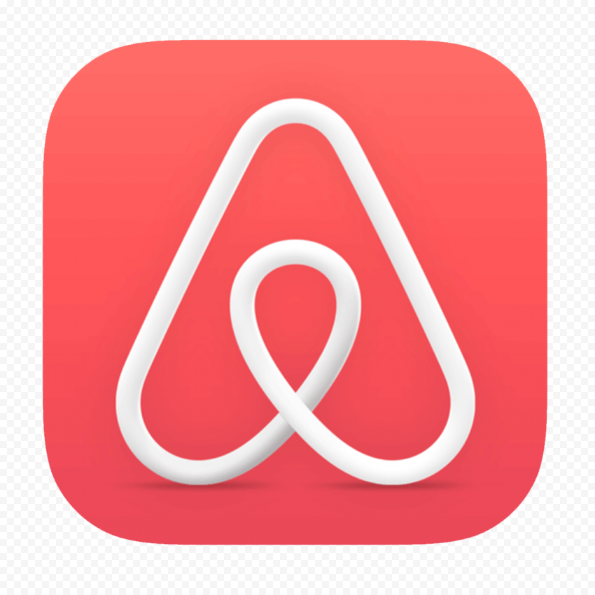 HD Airbnb Square App Icon Logo PNG Image