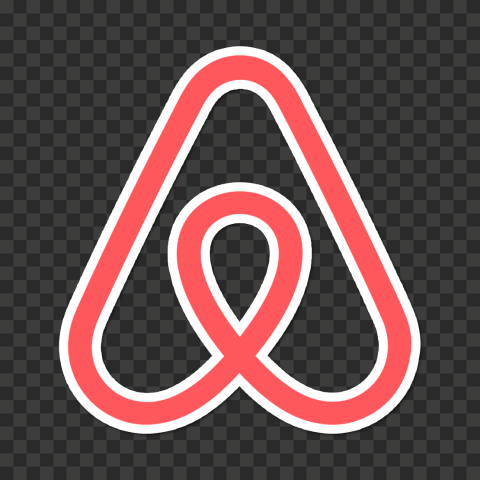 high resolution transparent background logo airbnb logo