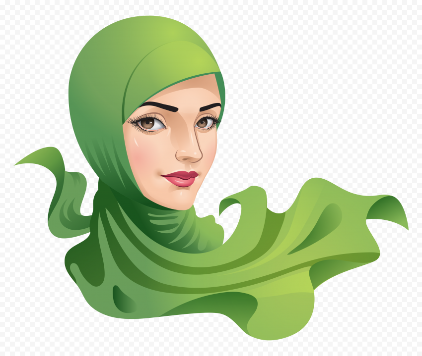HD Muslim Woman With Hijab Vector Illustration PNG
