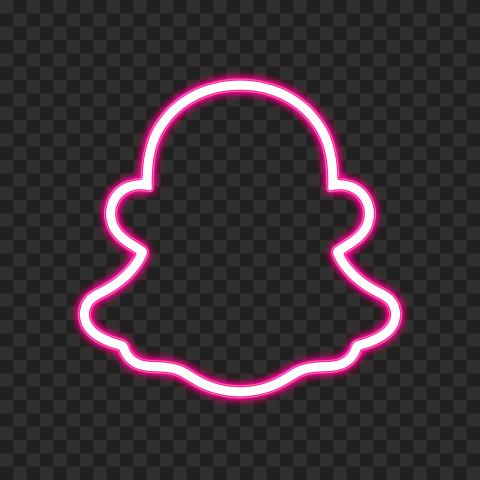 HD Pink Snapchat Neon Logo PNG