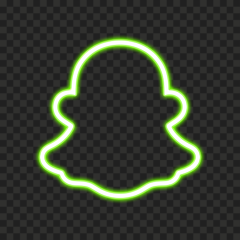 HD Green Snapchat Neon Logo PNG