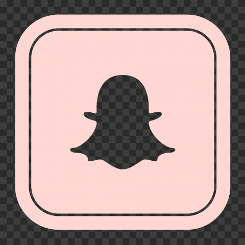 HD Snapchat Square Pink Outline App Logo Icon PNG Image