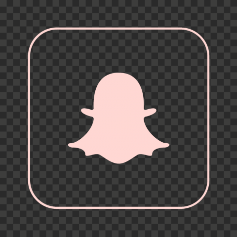 HD Snapchat Square Pink Outline App Icon PNG Image