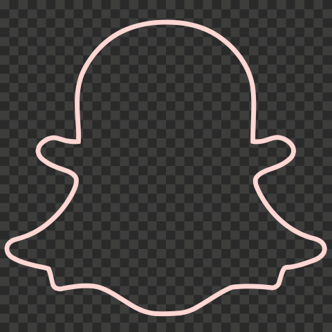 HD Pink Snapchat Outline Ghost Logo Icon Symbol PNG Image