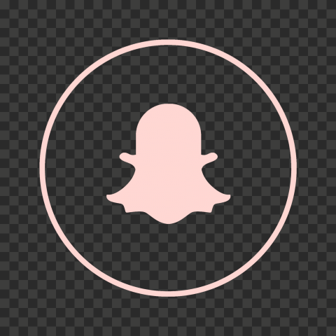 HD Snapchat Pink Outline Circle Round Logo Icon PNG Image